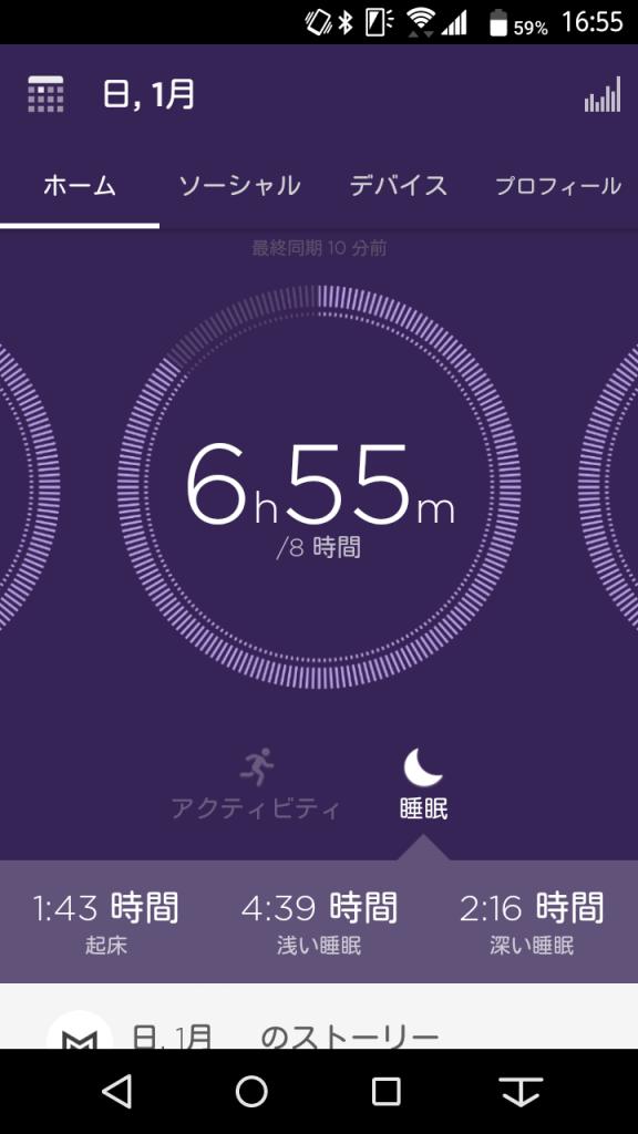 ミスフィットアプリ2